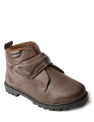 Leather Touch Fastening Boot
