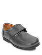 Leather Dual Fit Touch Fastening Shoe