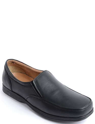 Leather Dual Fit Slip On Shoe
