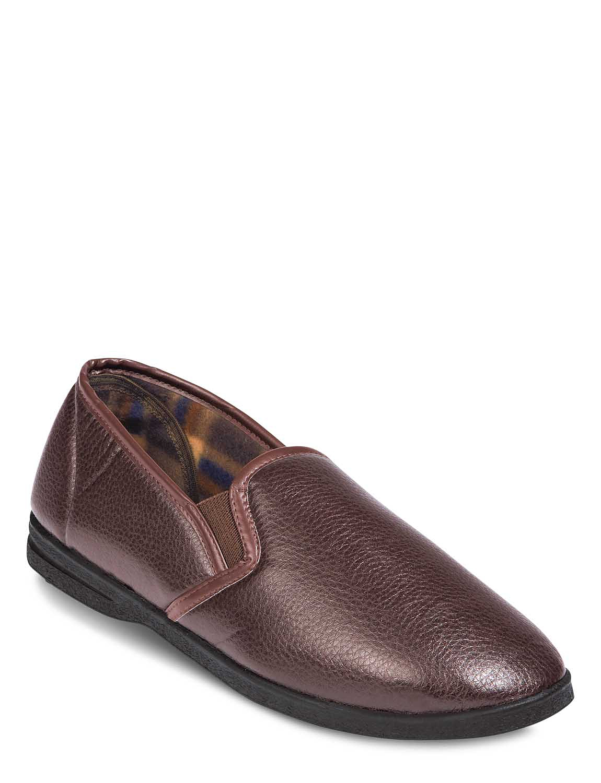 Dunlop Twin Gusset Slipper - Brown