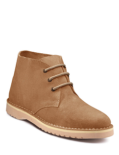 Pegasus Classic Suede Desert Boot Wide Fit