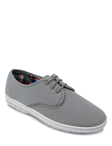 Mens Lace Canvas Shoe