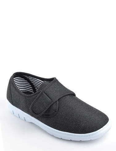 Canvas Touch Fasten Shoes