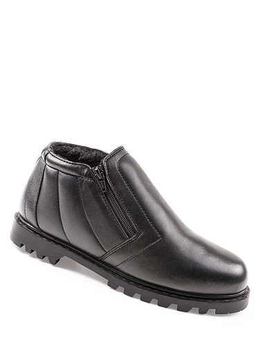 Leather Twin Zip Boot