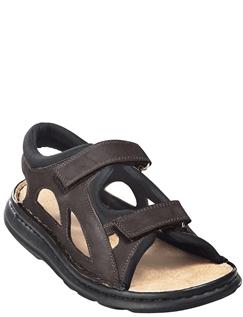 Fully Adjustable Leather, Suede Sandal