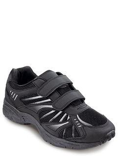 Mens Wide Fit Touch And Close Leisure Trainer