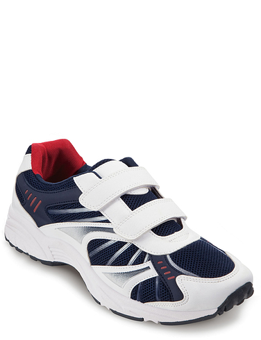 Men's Wide Fit Touch And Close Leisure Trainer