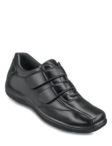 Mens Cushion Walk Twin Velcro With Gel Pad Shoe