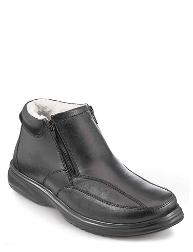 Mens Thermal Lined Twin Zip Boot