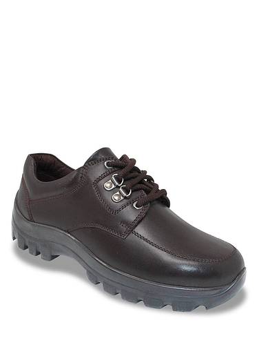 Mens Leather Lace Walking Shoe