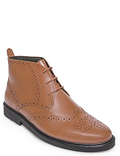 Leather Brogue Boot