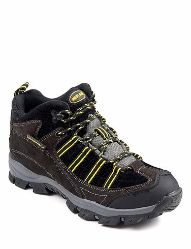 Mens Waterproof Hiking Boot - Black