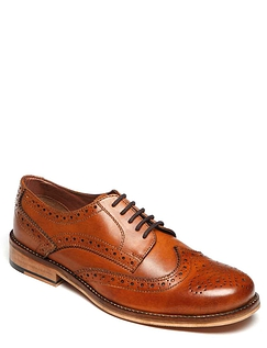 Real Leather Brogue