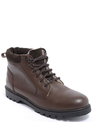 Pegasus Luxury Leather Sherpa Fleece Lined Boot