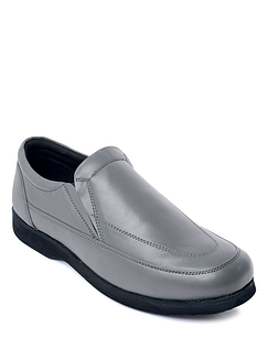 Wide Fit Leather Slip On Shoe