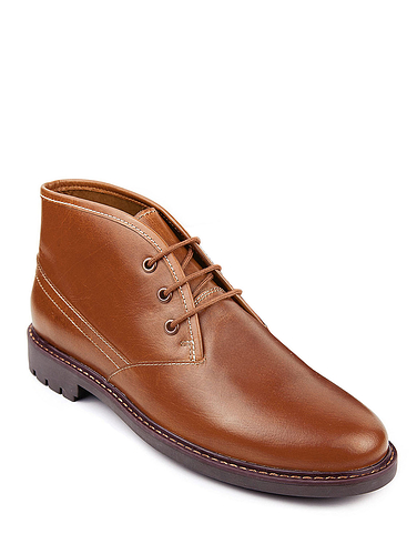 Pegasus Leather Lace Boot With Rugged Outsole