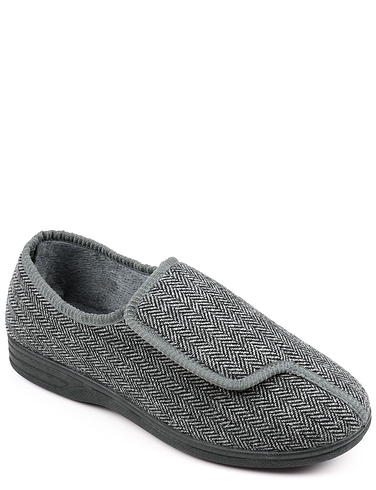 Herringbone Touch Fasten Slipper