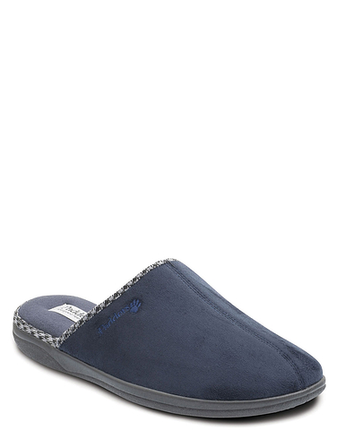 Padders Wide Fit Slipper with Memory Foam