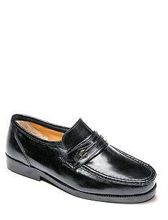 Wide Fit Leather Moccasin