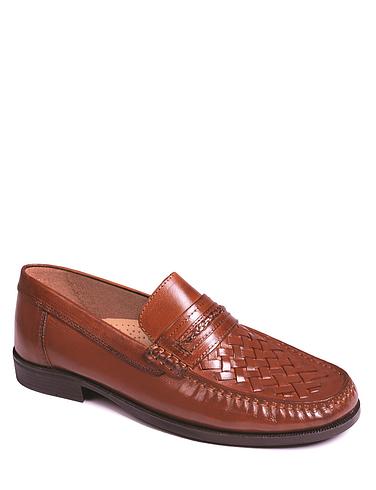 Leather Slip On Moccasin