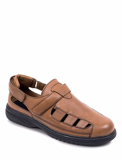 Wide Fit Leather Multi-Fit Sandal