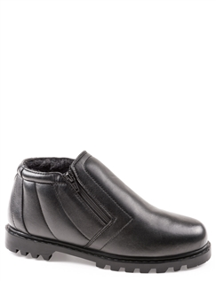 Wide Fit Leather Twin Zip Fleece Lined Boot