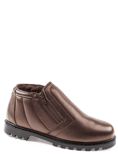 Leather Wide Fit Twin Zip Boot