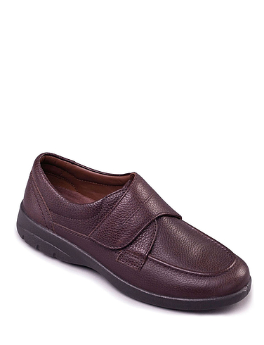 Padders Solar Extra Wide Leather Dual Fit Touch Fasten Shoe