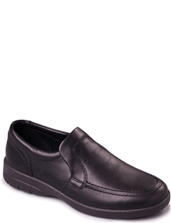 Padders Leo Extra Wide Leather Slip On Shoe