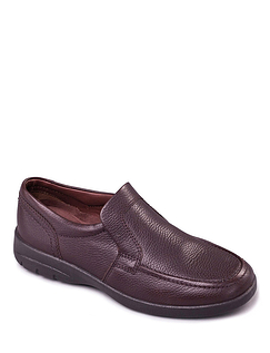 Extra Wide Leo Padders Leather Slip On Shoe
