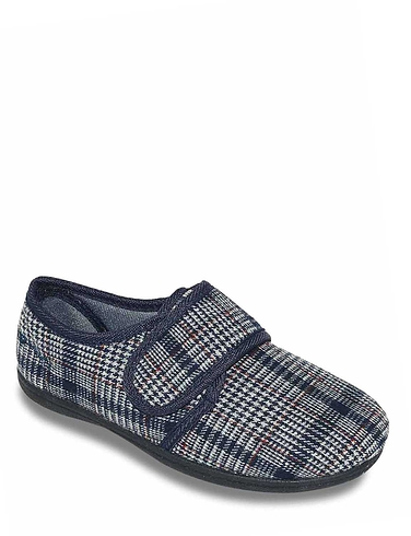 Padders Wide Fit Touch Fasten Slipper
