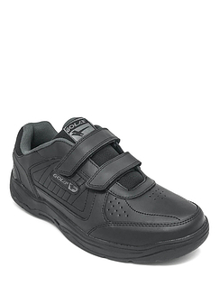 Gola Wide Fit Leather Touch Fasten Trainer