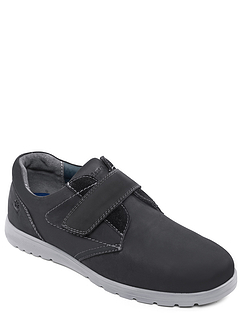 Padders 'Restart' Leather Dual Fit Extra Wide Touch Fasten Shoe