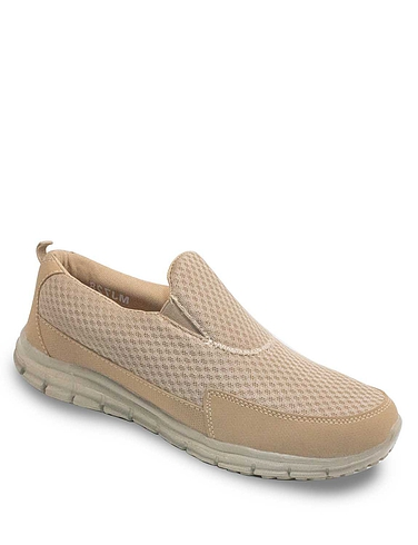 Pegasus Mesh Slip On Wide Fit Trainer