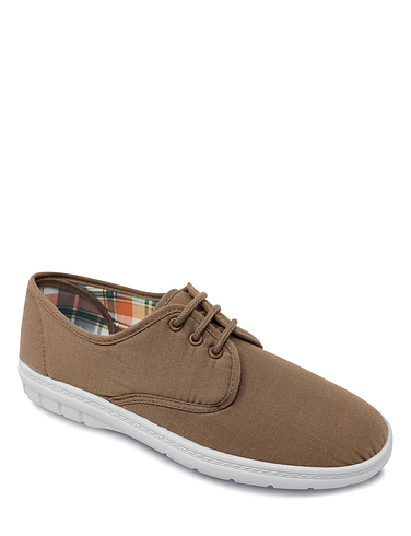 Canvas Wide Fit Lace Up Shoe