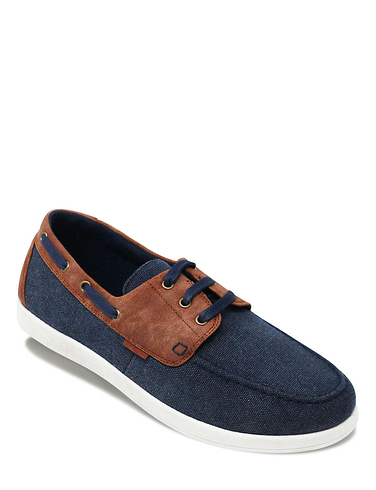 Dr. Keller Wide Fit Lace Canvas Boat Shoe