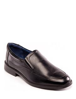 Mens Padders Bond Wide G Fit Twin Elastic Shoe - Black