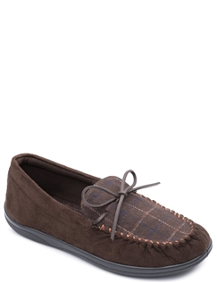 Mens Padders Lounge Wide G Fit Moccasin Style Slipper