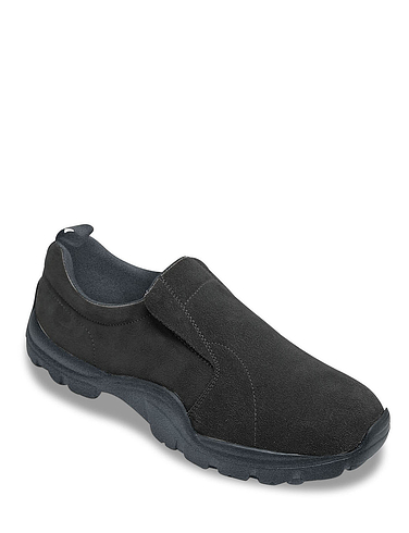 Pegasus Suede Slip On Wide Fit Comfort Shoe