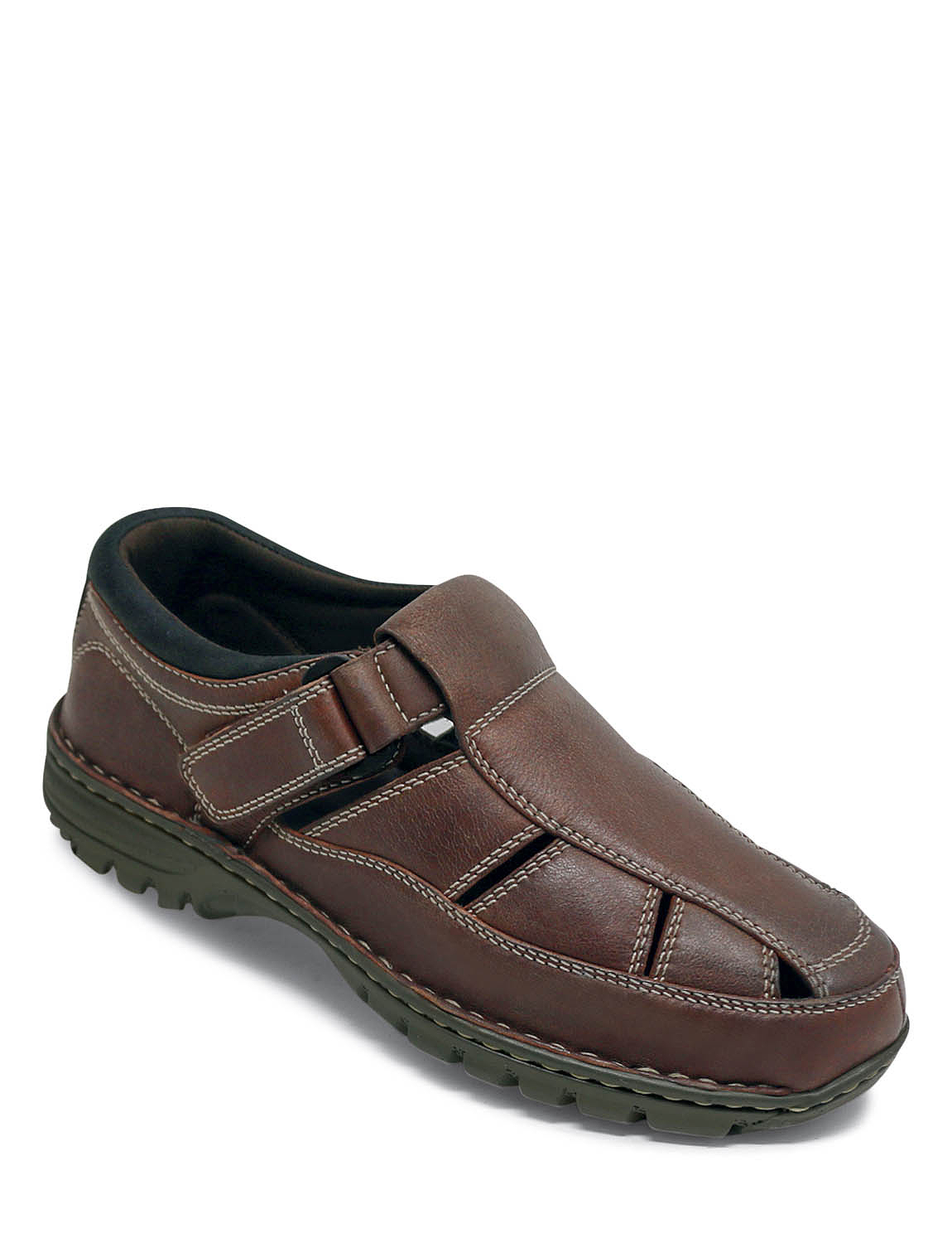Leather Sandal Shoe - Brown