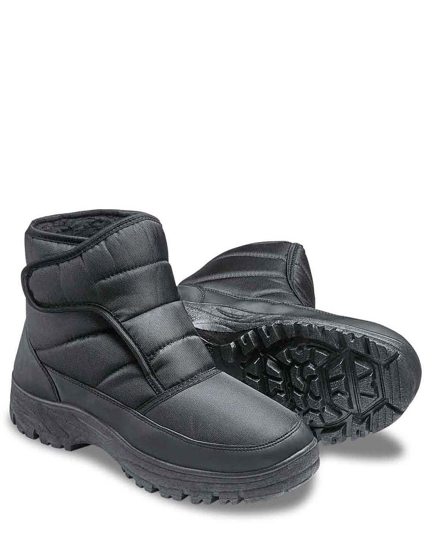 Mens Cushion Walk Wide Fit Snow Boot - Black