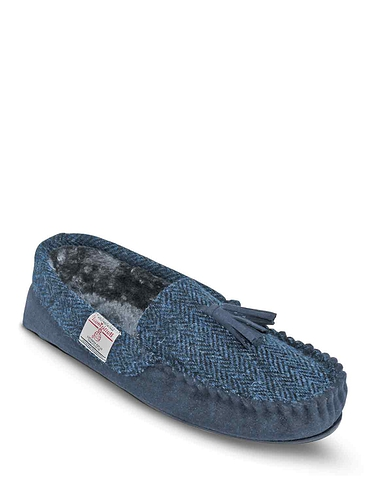 Totes Harris Tweed Washable Slipper With Memory Foam