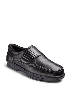 Dr. Keller Texas Wide Fit Leather Shoe - Black