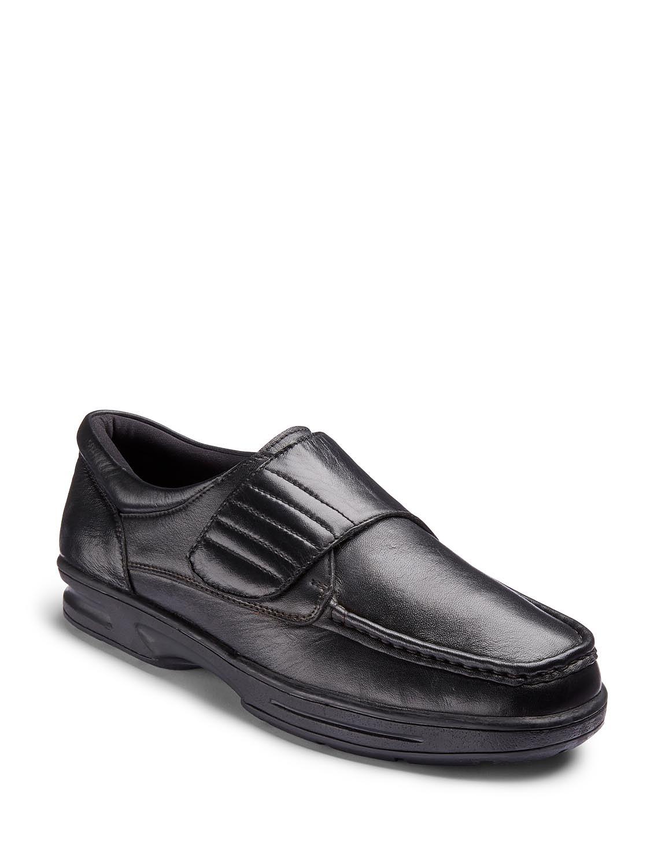Dr. Keller Texas Wide Fit Leather Shoe - Black