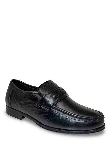 The Fitting Room Leather Wide Fit Slip On Shoe