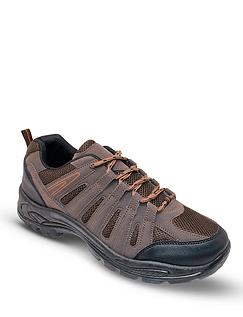 Mens Wide-Fit Lace Walking Shoes