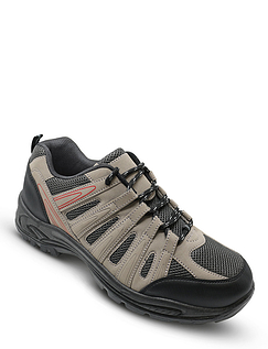 Mens Wide-Fit Lace Walking Shoes