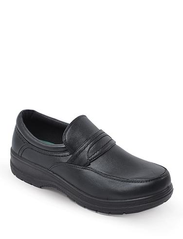 Mens Slip on Wide Fit Comfort Shoes