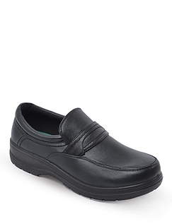 Mens Slip on Wide Fit Comfort Shoes