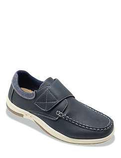 Dr Keller Wide Fit Touch Fasten Boat Shoe